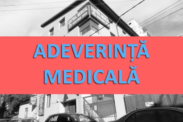 adeverinta medicala, rommed