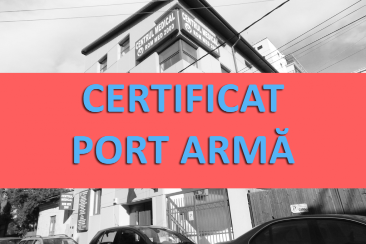 certificat medical port arma rom med