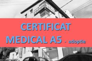 CERTIFICAT MEDICAL A5 Adoptie (psihiatrie, HIV, VDRL, MD
